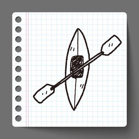 canoa: doodle de canoa