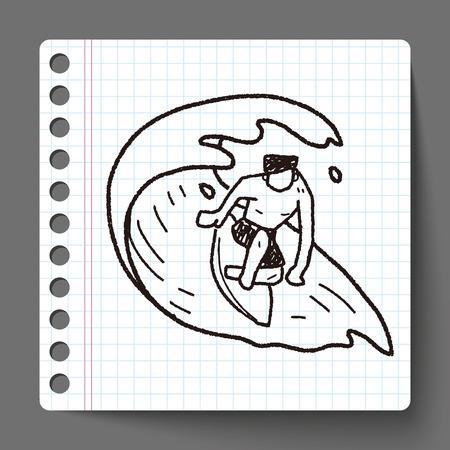 Doodle Surf Vector