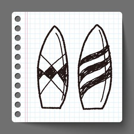 Doodle Surf board Vector