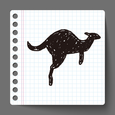 wallaby: Kangaroo doodle