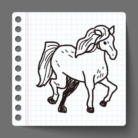 horse doodle Vector