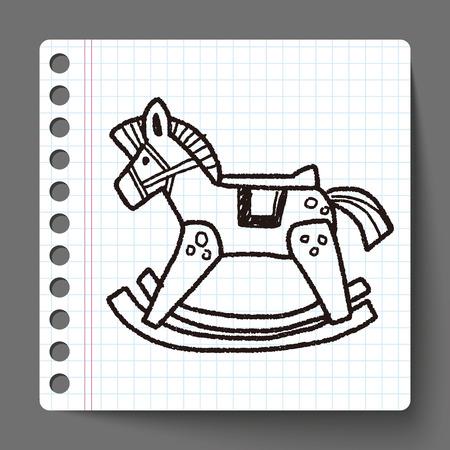 rocking: rocking horse doodle