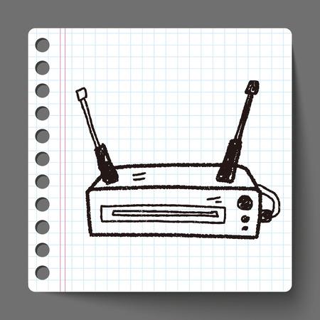 network router: modem doodle