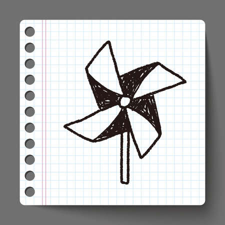 wind mill toy: windmill toy doodle