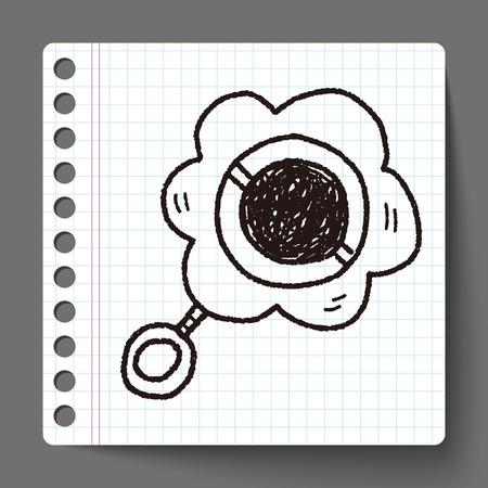 sonaja: sonajero beb� del doodle