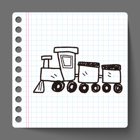 train: toy train doodle Illustration