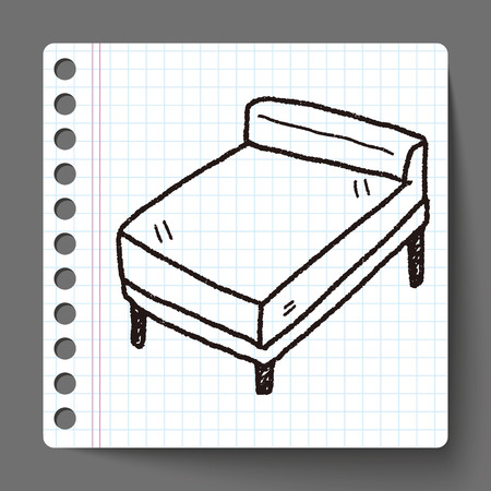 bed doodle Vector