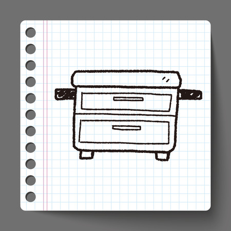 cabinet doodle Vector
