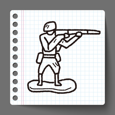 green plastic soldiers: toy soldier doodle