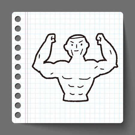 muscle arm: Strong muscle doodle