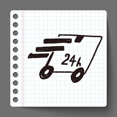 24 hr: 24hr delivery doodle
