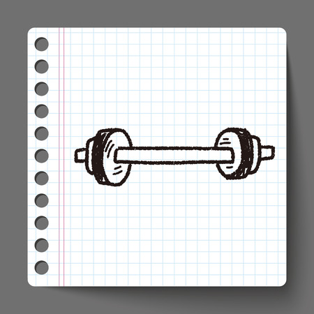 hand lifting weight: dumbbell fitness doodle