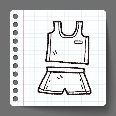 sport clothes: sport clothes doodle Illustration