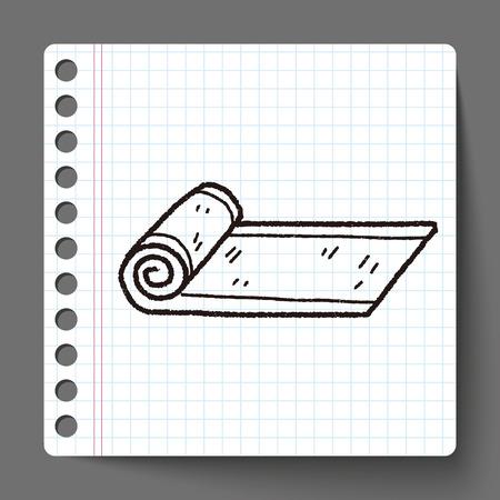 sport mats: yoga mat doodle