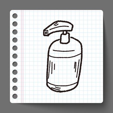 cleaner bottle doodle Illustration