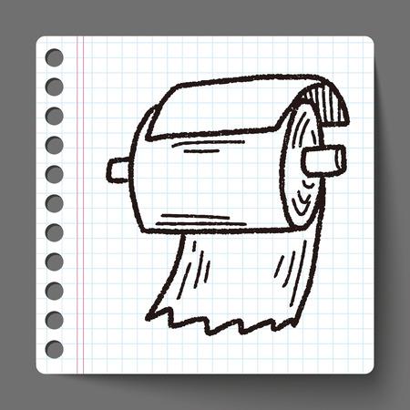 toilet paper art: toilet paper doodle Illustration