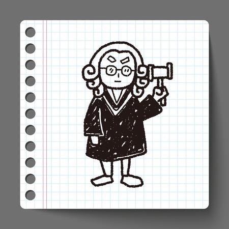 martillo juez: juez abogado del doodle