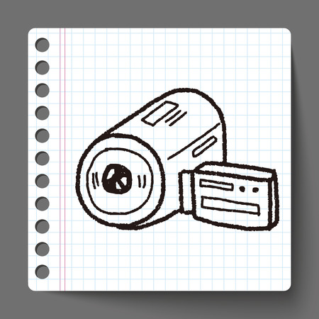 doodle video camera Vector