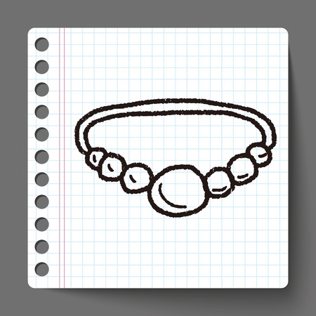 necklace doodle Vector
