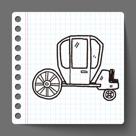carriage doodle Vector
