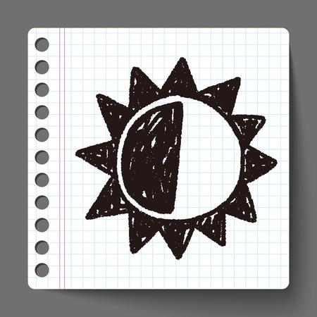 słońce: doodle sun