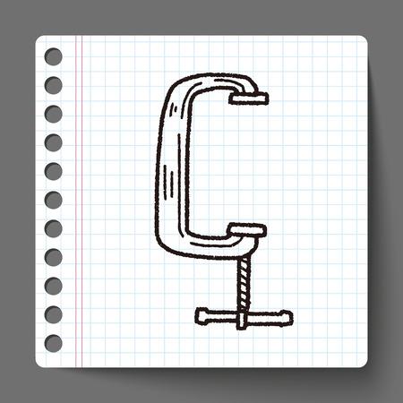 vise grip: jaw vice doodle