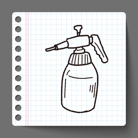 gardening hoses: watering can doodle