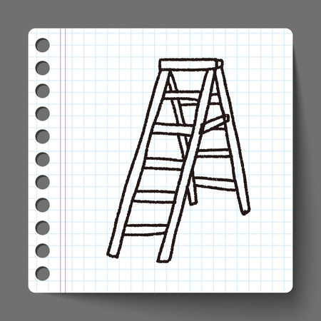 wooden stairs: ladder doodle