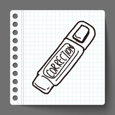 correction: correction pen doodle