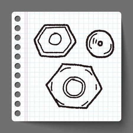 bolt head: screw doodle