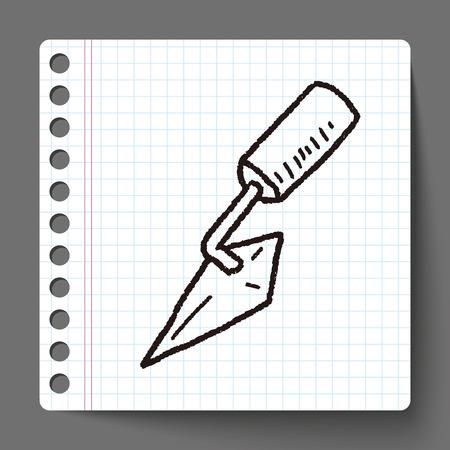 cement tool doodle Vector