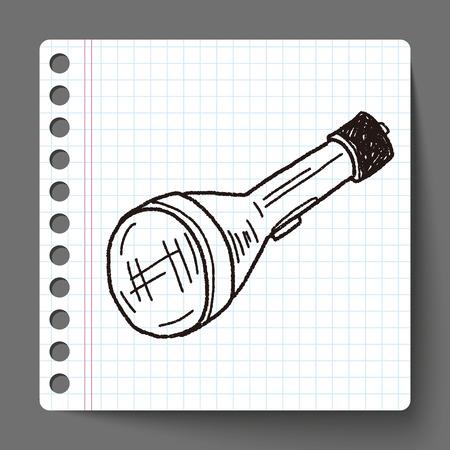flashlight: Flashlight doodle Illustration