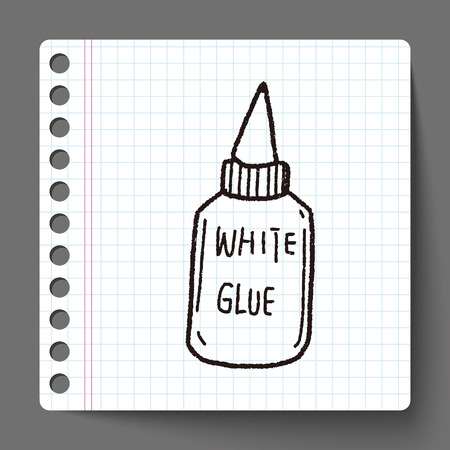 quick drawing: glue doodle