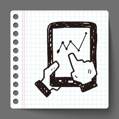 bussiness: bussiness chart in cell phone doodle drawing