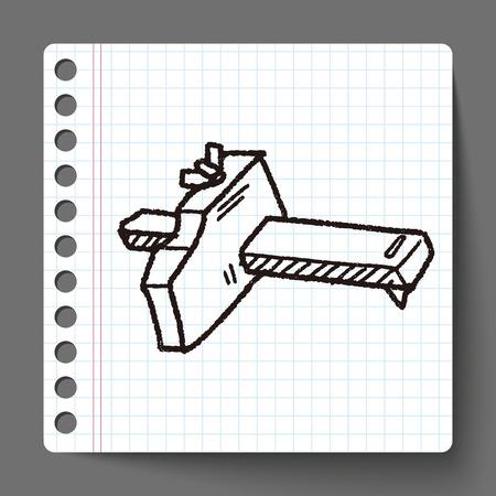 pied   � coulisse: outil de mesure doodle Illustration