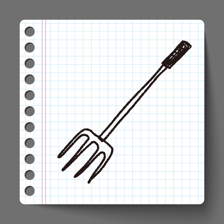 hay bales: fork doodle