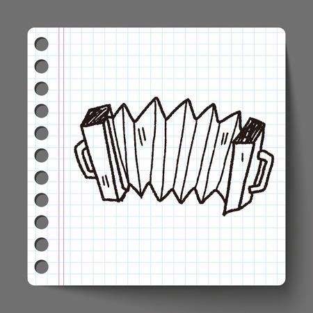 acordeón: Acorde�n del doodle Vectores