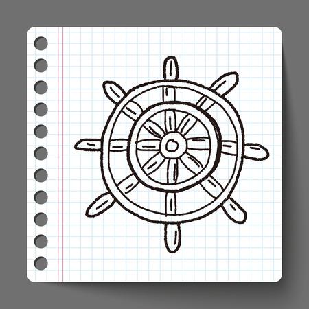 ruder: Ruder doodle Illustration