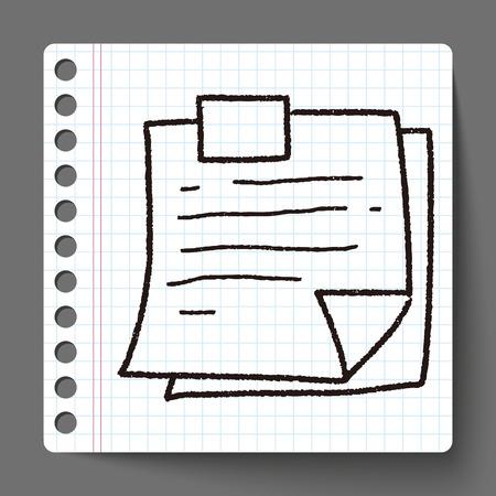 memo: Memo doodle Illustration