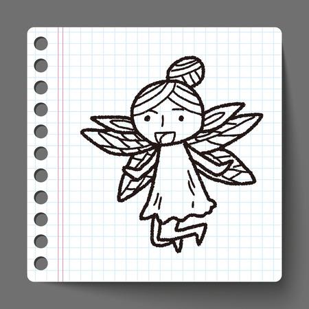 fairy doodle Vector