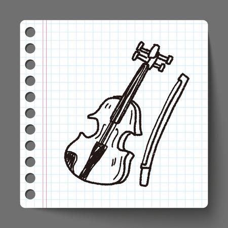 violin background: Violin doodle