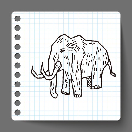 mammoth: Mammoth doodle Illustration