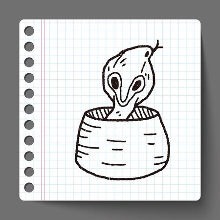 king cobra: cobra doodle Illustration