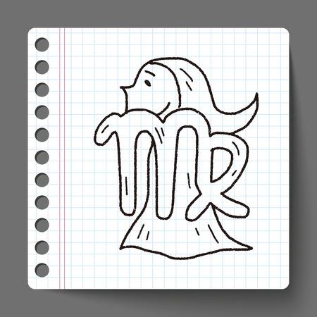 constelacion: Virgo constelaci�n del doodle Vectores