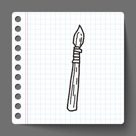 spear: spear doodle Illustration