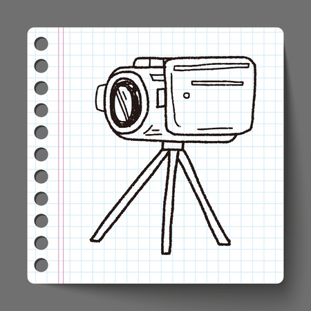 Doodle Video recorder Vector
