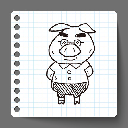 pig: three little pigs doodle
