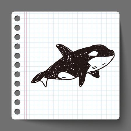 killer: Killer Whale doodle