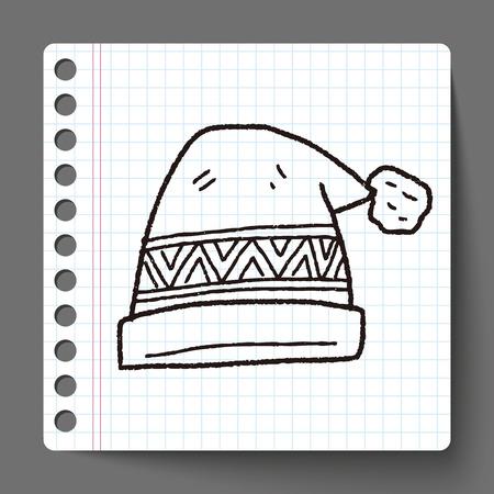 fur cap: winter hat doodle