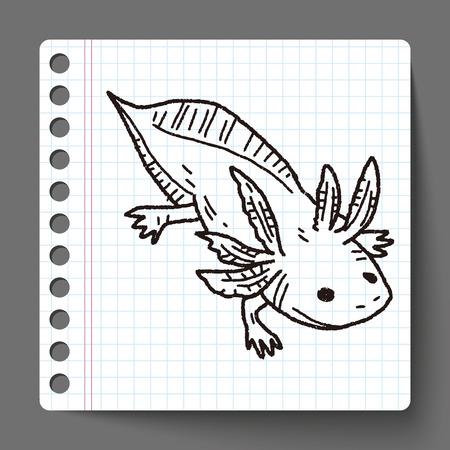 salamandre: salamandre doodle